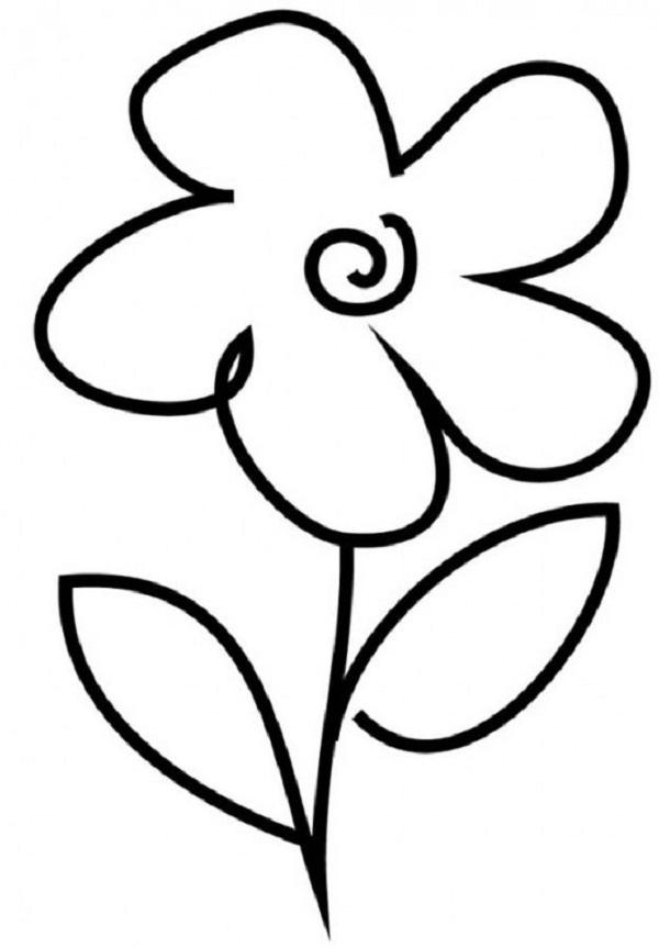 Flower Outline For Kids