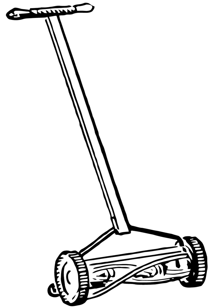 lawn mower vector - photo #43