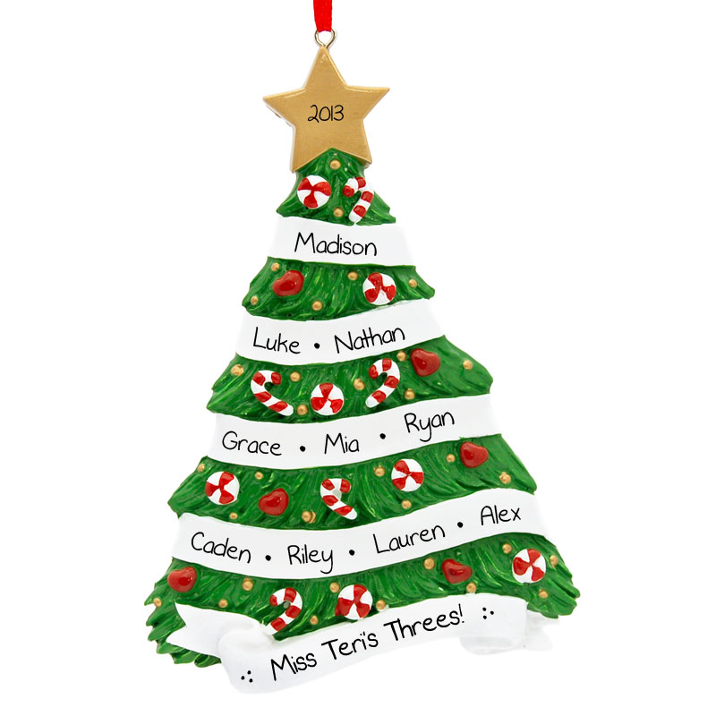 Preschool Christmas Tree Ornament Lots Of Names