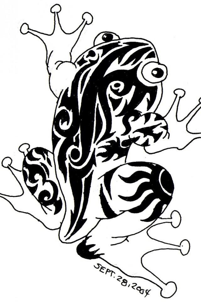 tribal frog tattoo designs | Cool Tattoos Designs