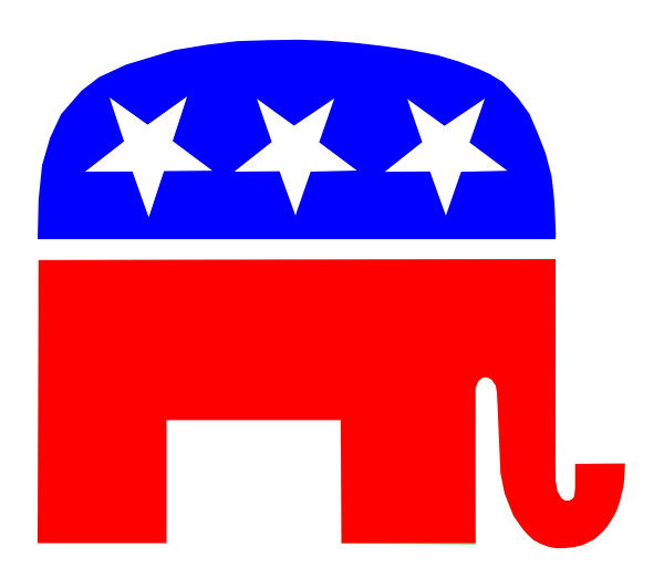 Republican Gop Party Elephant clip art - vector clip art online ...