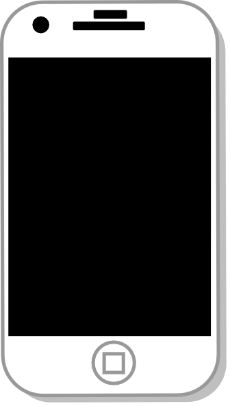 Iphone Clipart Black And White | Clipart Panda - Free Clipart Images