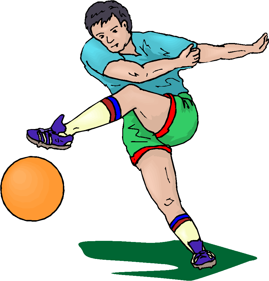 Football Player Running Without The Ball | Clipart Panda - Free ...