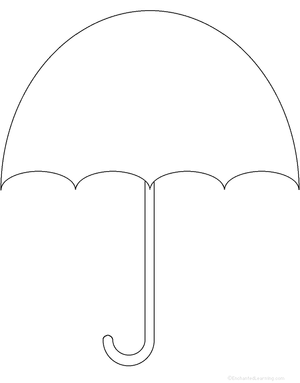 Striking image regarding printable umbrella template