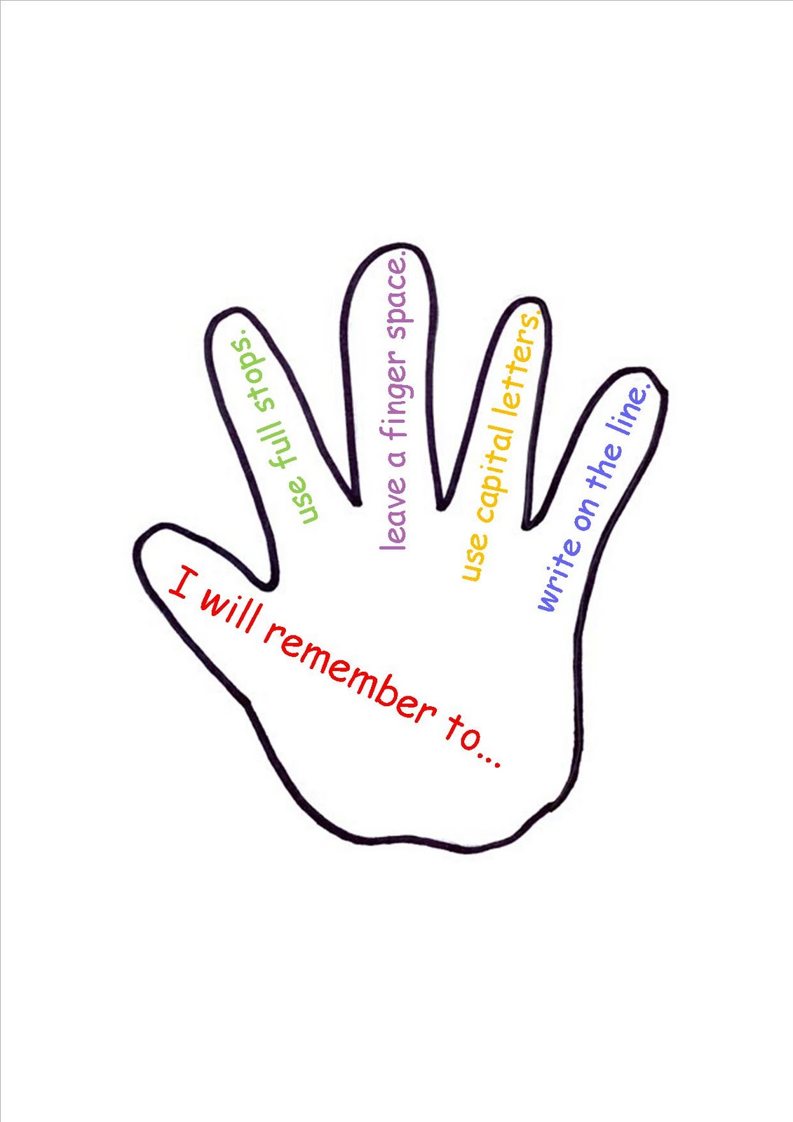 printable hand template cliparts co
