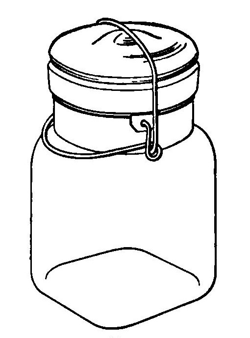 Reading, Roses & Prose: Old Fashioned Canning Jars Clip Art