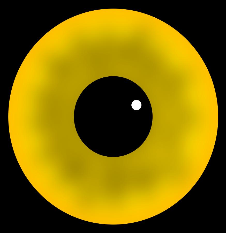 Yellow Eye Clipart, vector clip art online, royalty free design ...