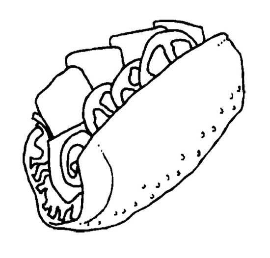 Junk Food Coloring Pages : The Big Sandwich Junk Food Coloring ...