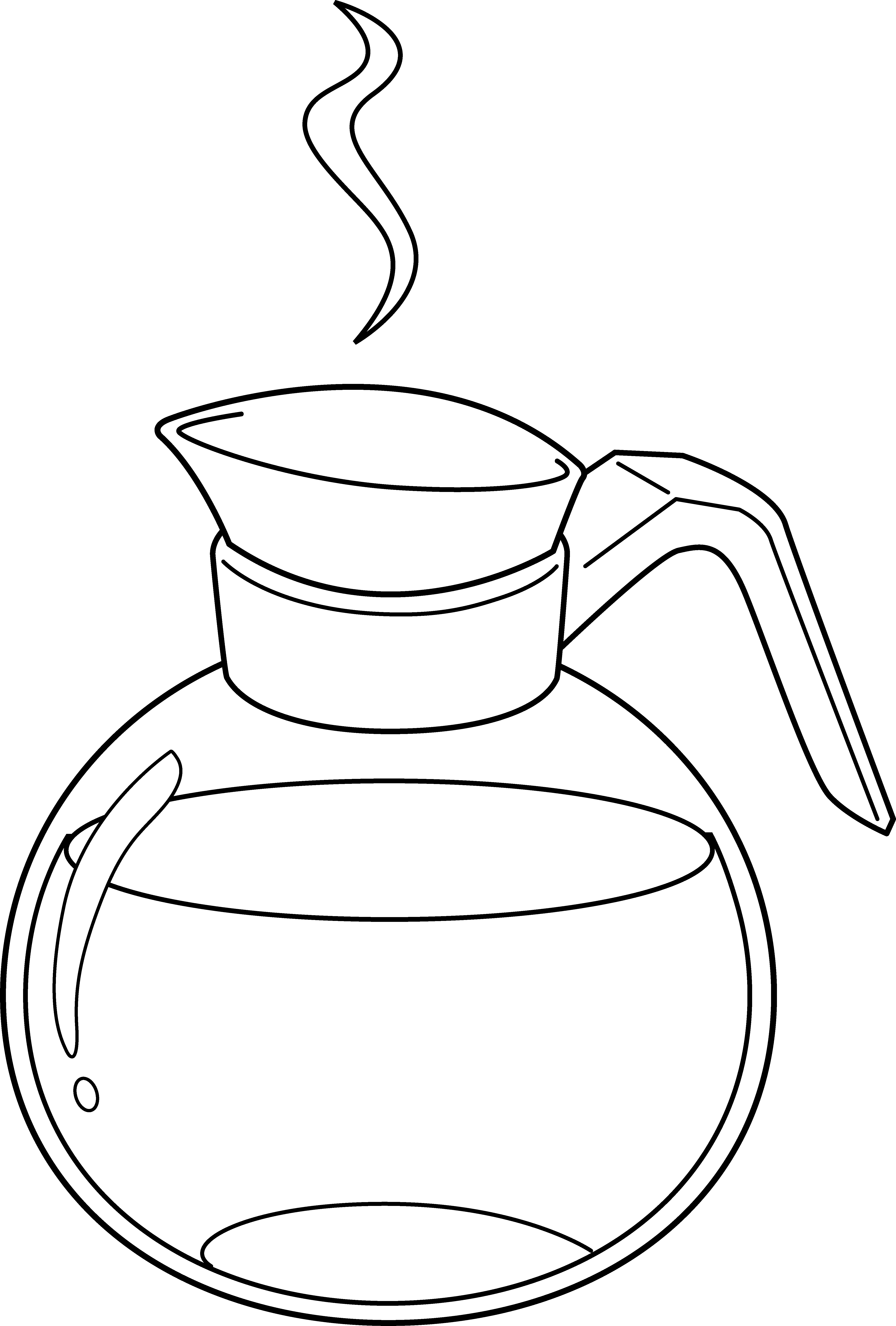 Line Art Jug : Picture of coffee pot cliparts