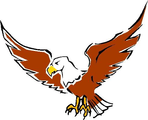 Soaring eagle clip art