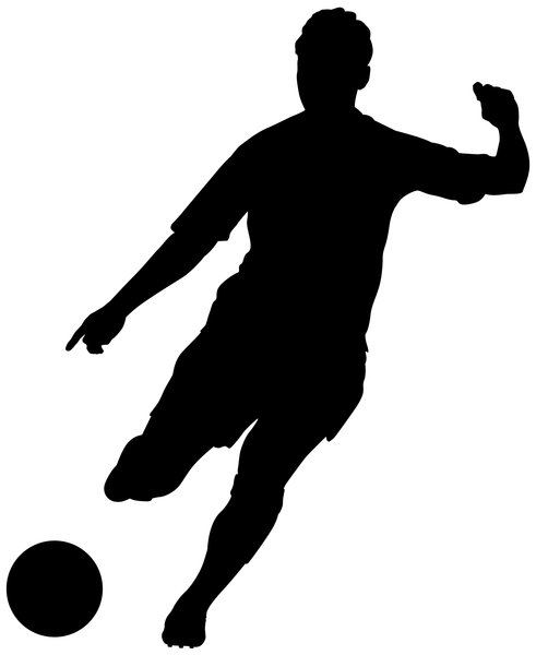 Playing Soccer Silhouette Vectors  Download Free Vector