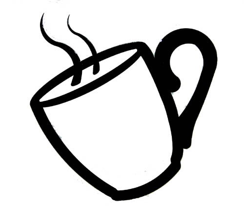 Coffee Cup Clip Art Black White Coffee Cup Clip Art Clipart