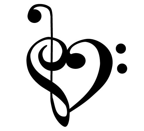 Treble Clef Bass Clef Heart - ClipArt Best