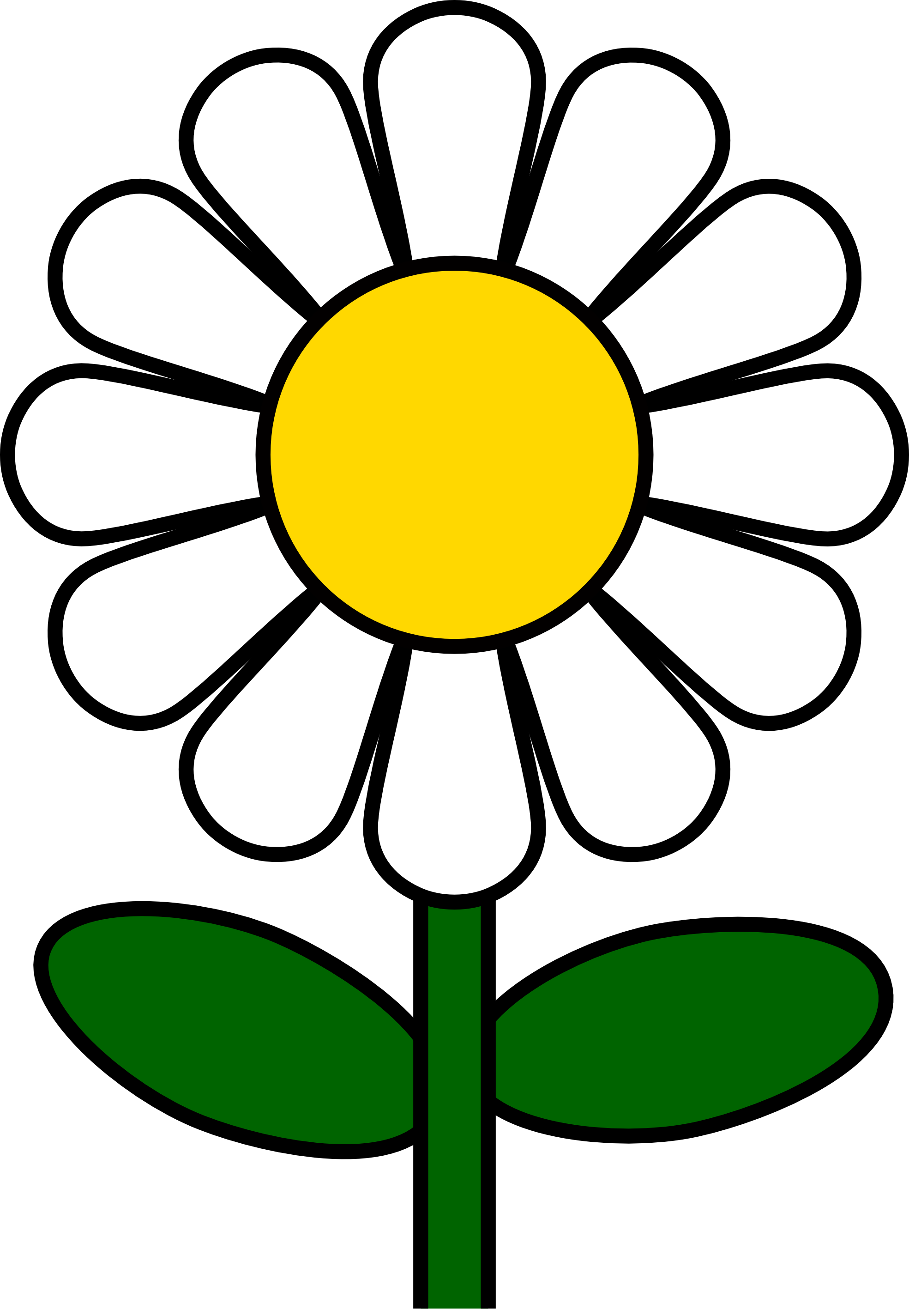 Pix For > White Daisy Flower Clipart