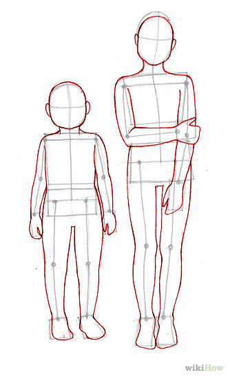 Drawing Lines For Toddlers : Child body outline cliparts