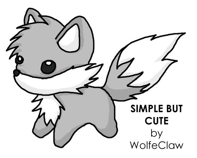 Simple But Cute Wolf Design Cool Art Designs Ideas