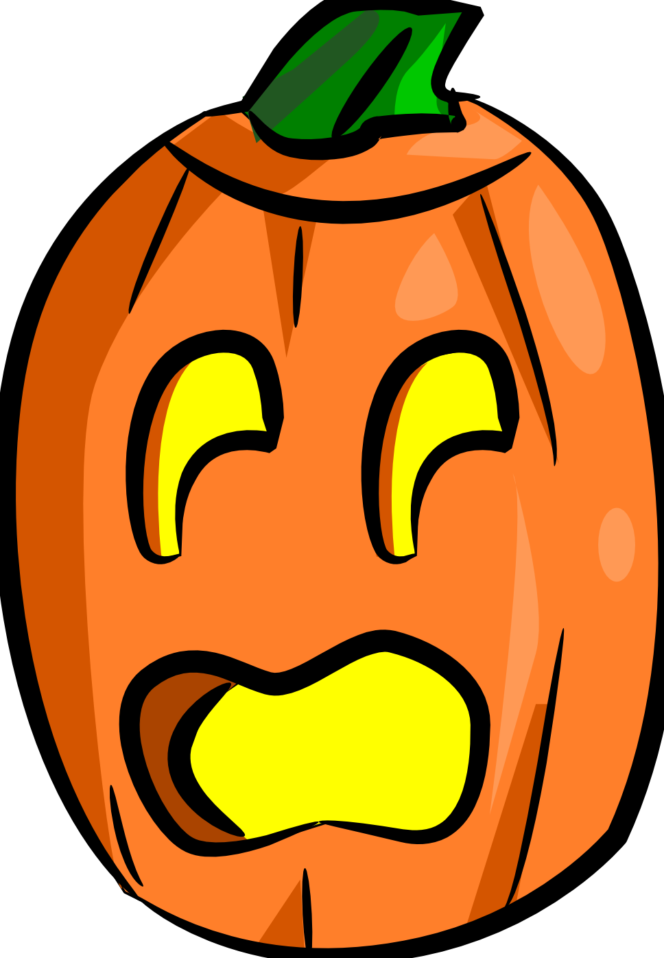 Totally free clip art for Surprised pumpkin face
