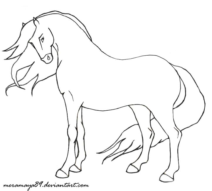 Horse Line Drawing Tattoo : Horse outline cliparts