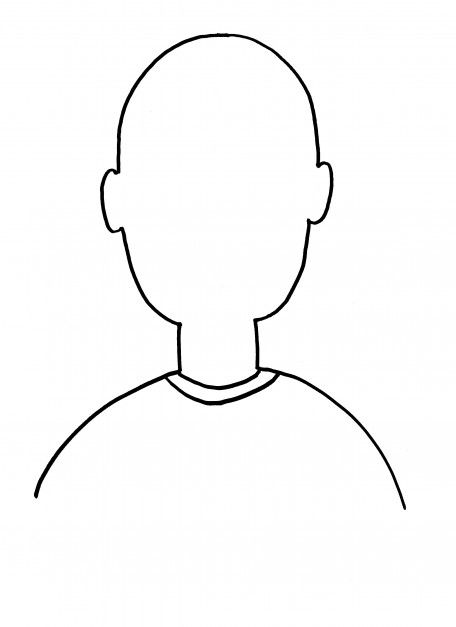 Blank person template for Person template preschool