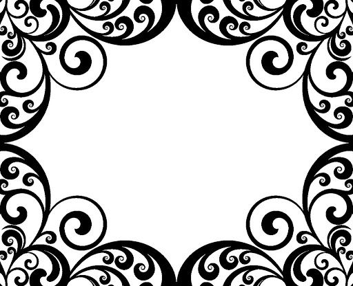 Swirl Border Damask Pictures | boarders | Pinterest