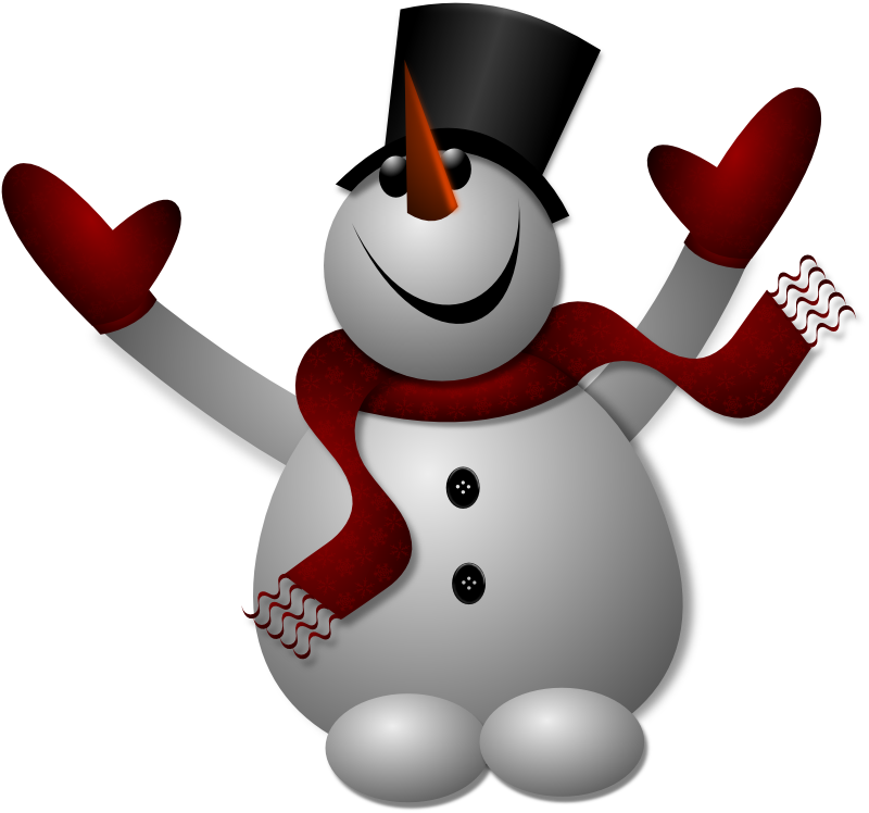 Clipart - Happy Snowman 1