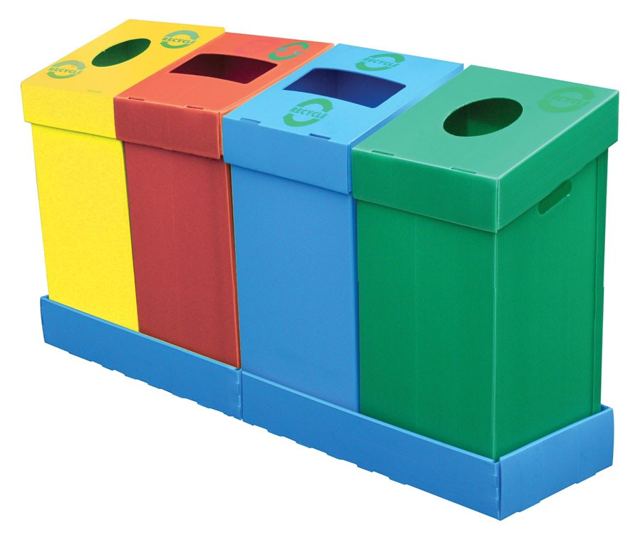 Flat Pack Recycling Bin 75 Litres For Office
