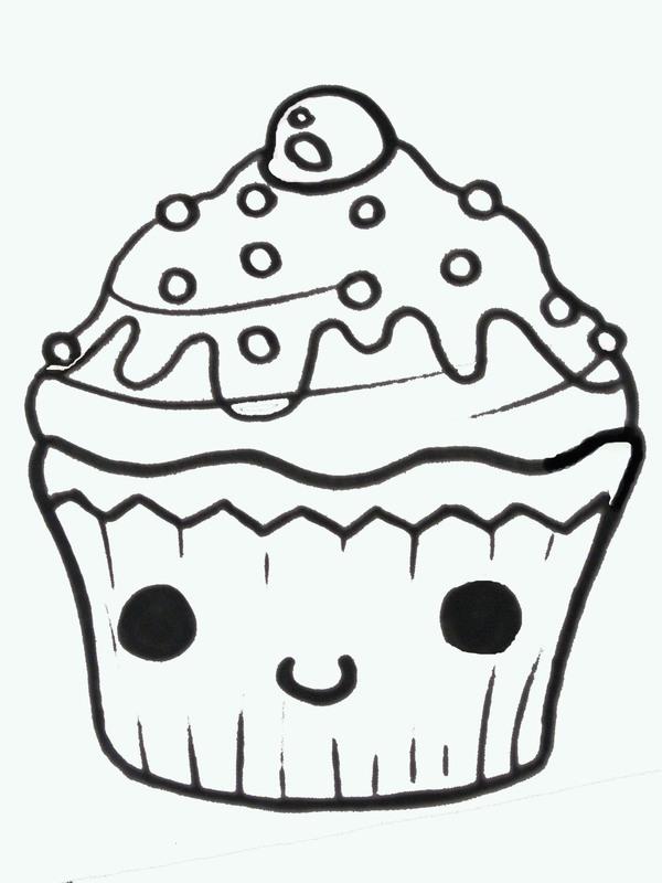 Easy Cute Cupcake Drawings Clipart