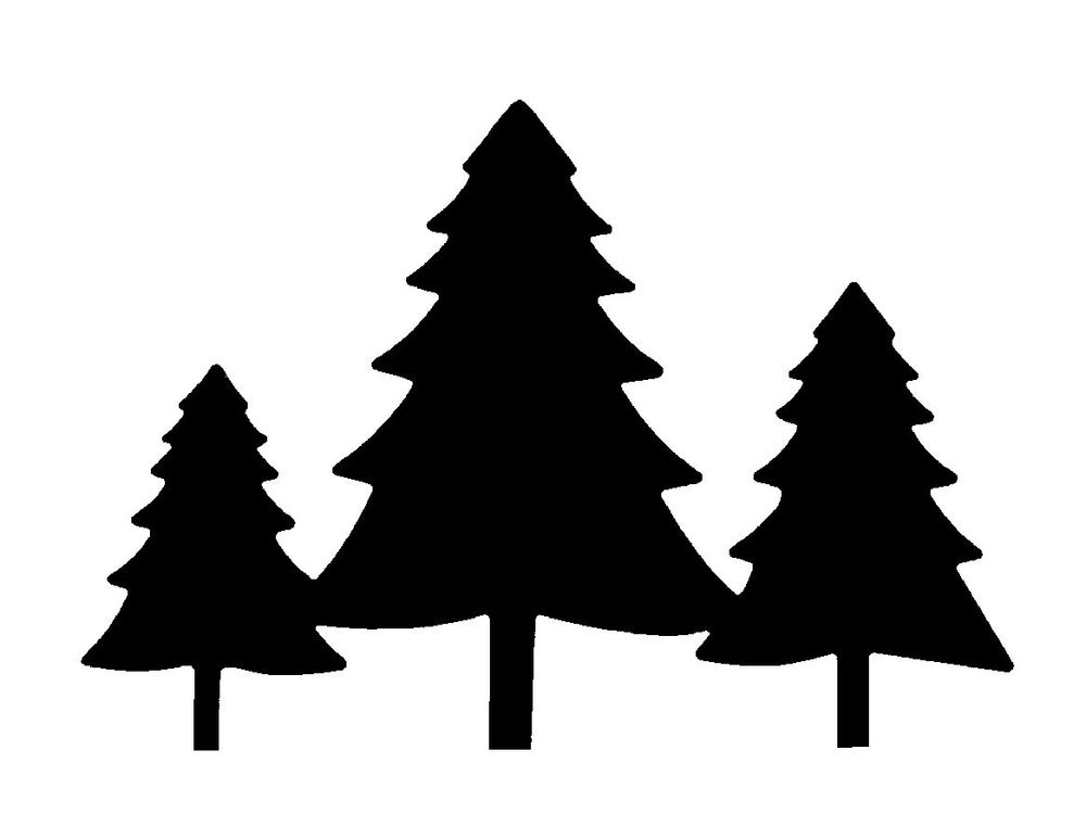 Pine Trees Silhouette - Cliparts.co