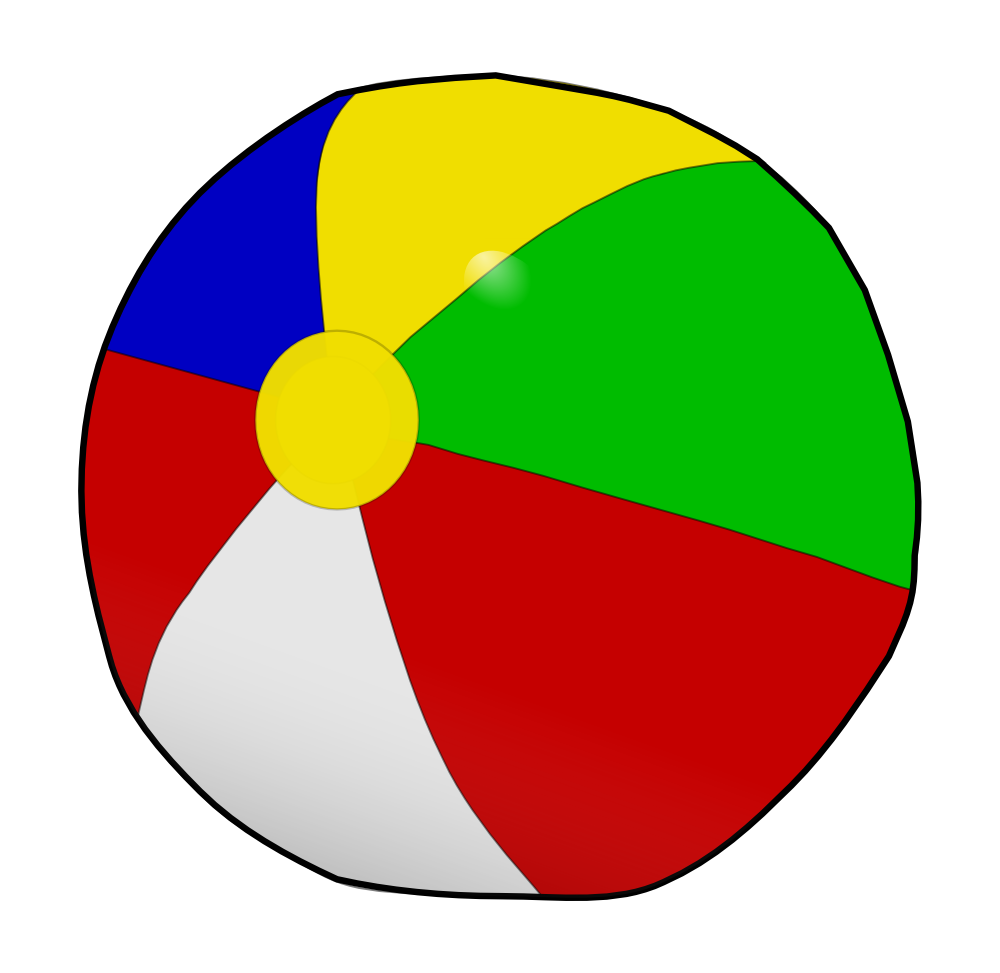 OnlineLabels Clip Art - Beach Ball