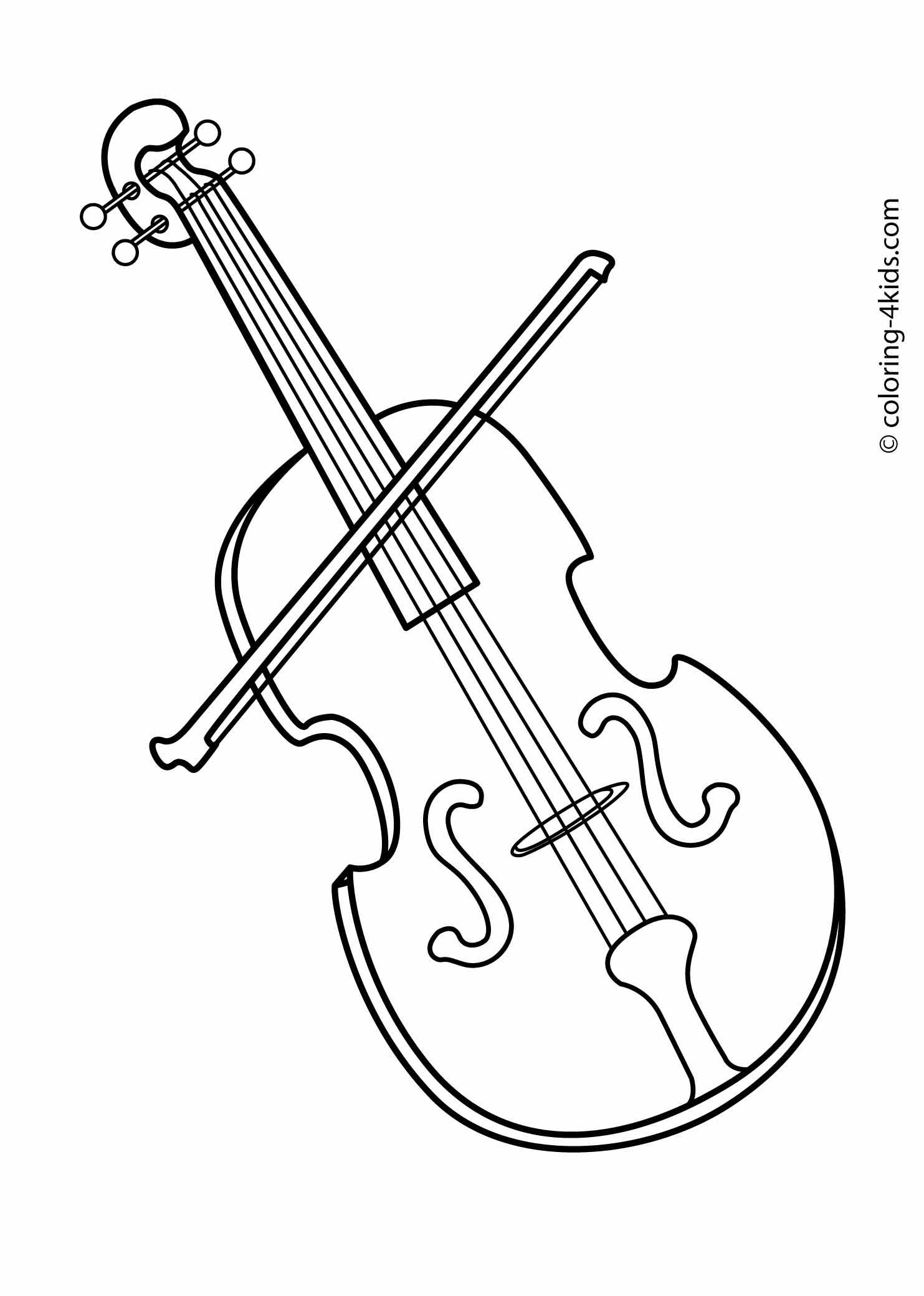 Musical instruments drawings for Viola coloring page