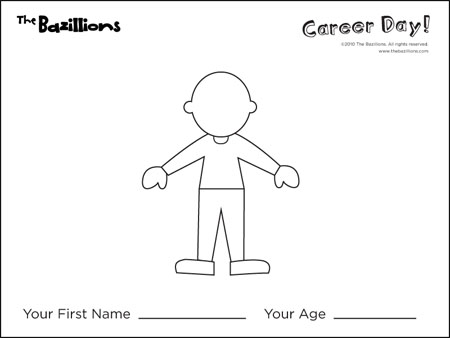 Career Day Activity Fun Sheets Free Cliparts Co Career Day Coloring Pages