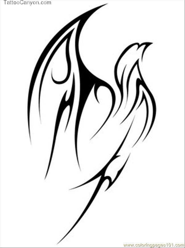 Flying Tribal Eagle Tattoo Free Printable Download Picture #