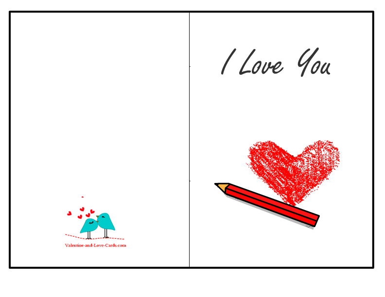 Adaptable image pertaining to i love you printable cards