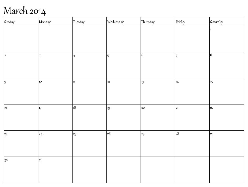 March 2014 Calendar Word Do Ent Hd Calendar
