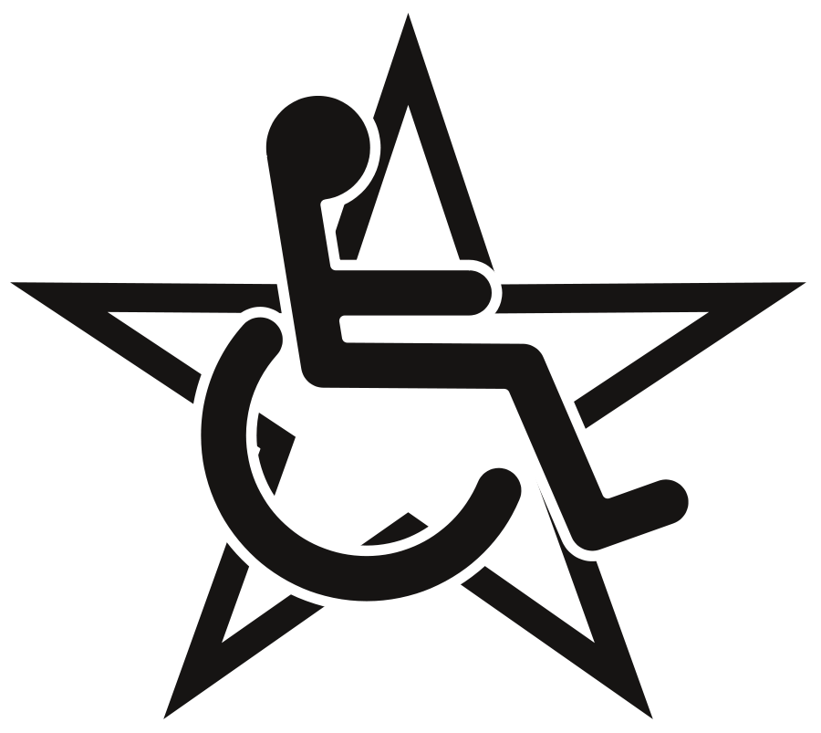 Wheelchair in a Star SVG Vector file, vector clip art svg file ...