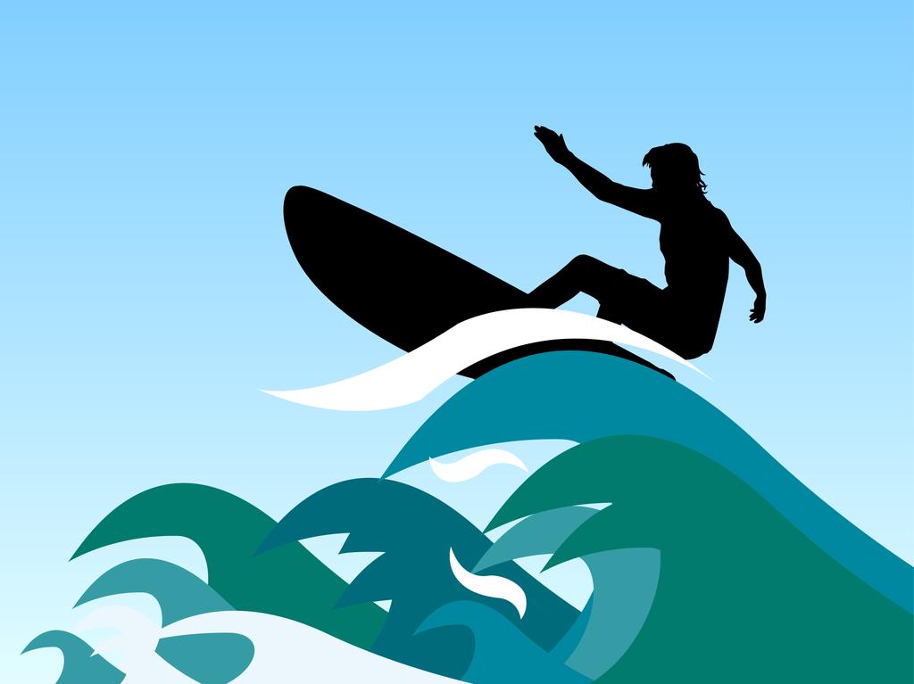 cartoon surfer girl cliparts co surfboard clip art images surfboard clip art outline