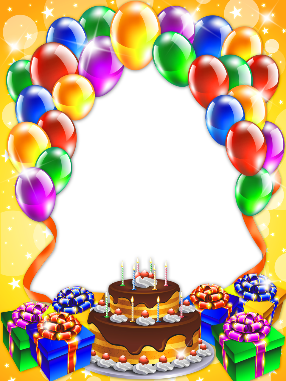 Happy Birthday Transparent PNG Frame