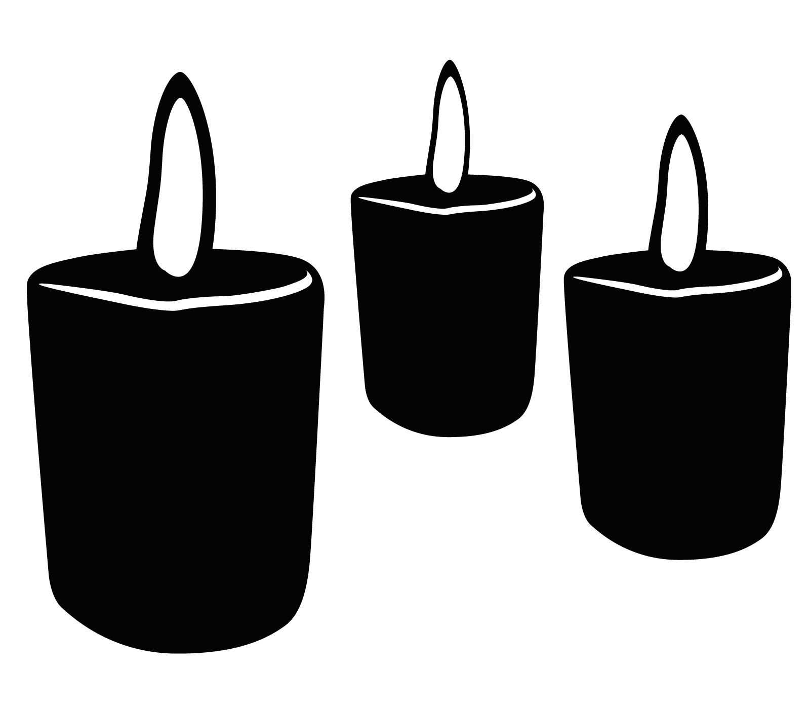 Candle Clip Art Black And White - Cliparts.co