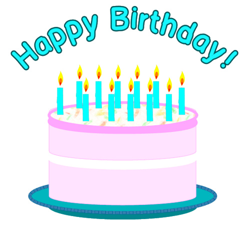 Pin Happy Birthday Clip Art Free Cake on Pinterest