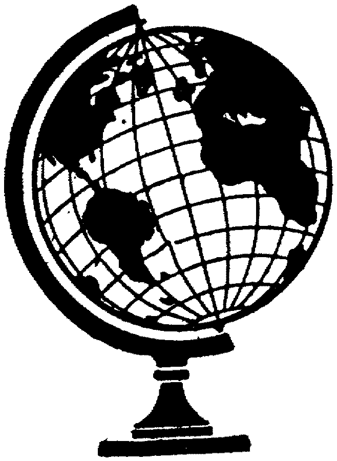 Line Drawing Globe : Globe line art cliparts
