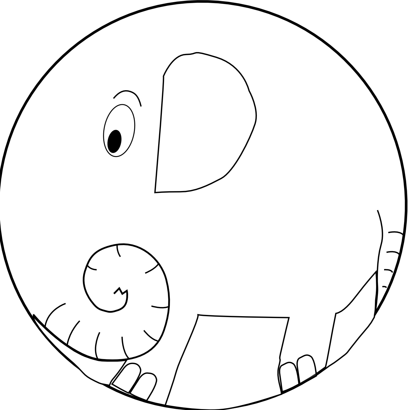 Images For > Elephant Black And White Clip Art