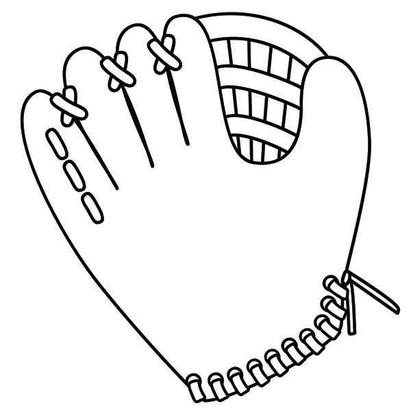 baseball glove coloring pages - photo#16