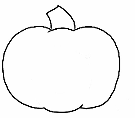 Pumpkin Outline Clip Art Tall Pumpkin Outline Clip Art