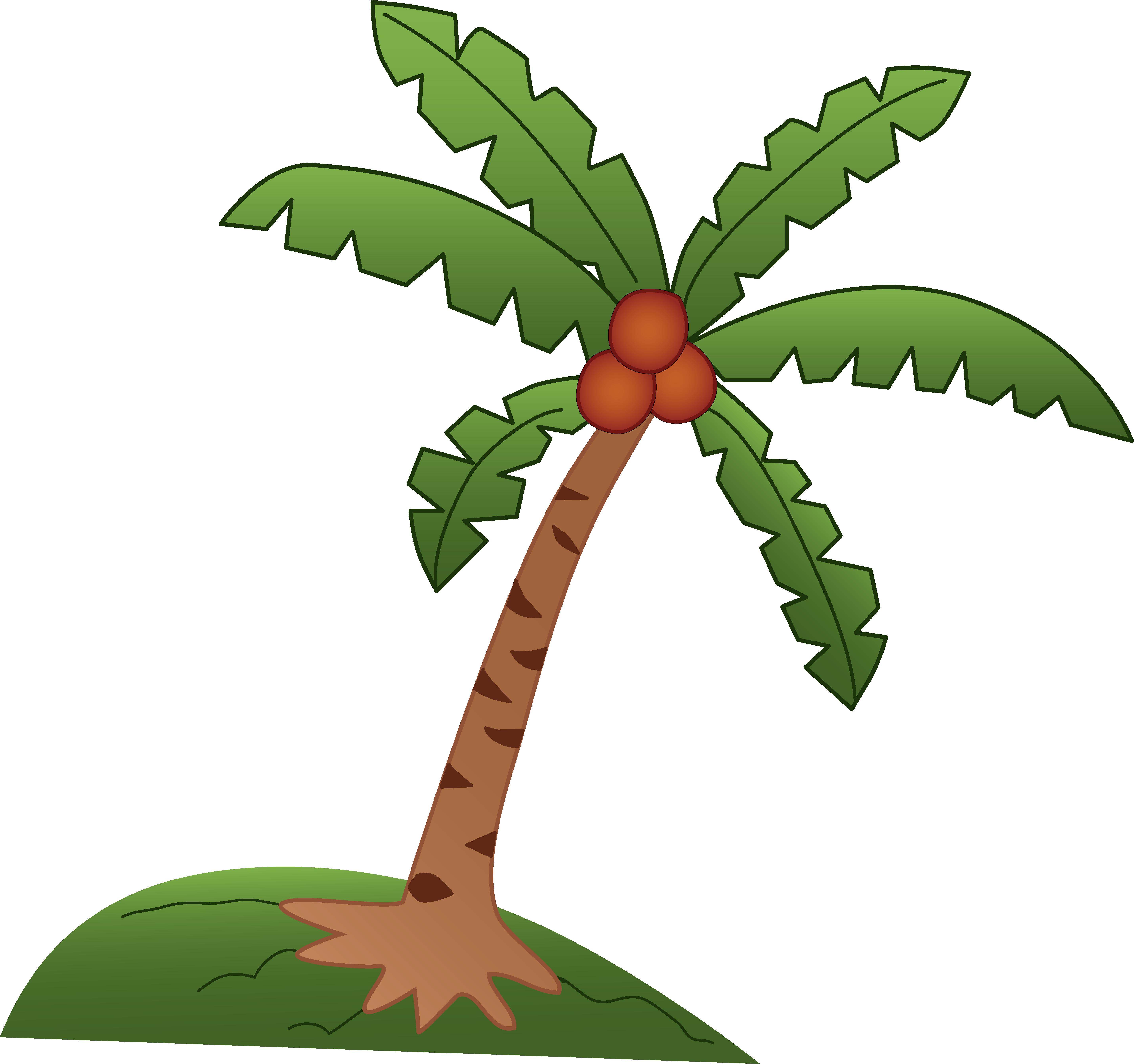 Palm Tree Cartoon Clip Art - Cliparts.co