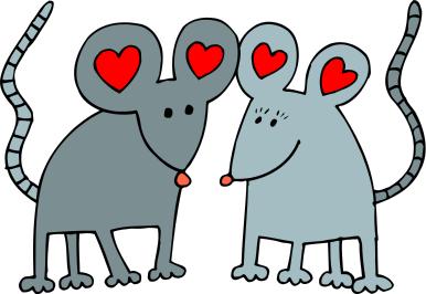 Free Valentine Animals Clipart, 1 page of Public Domain Clip Art