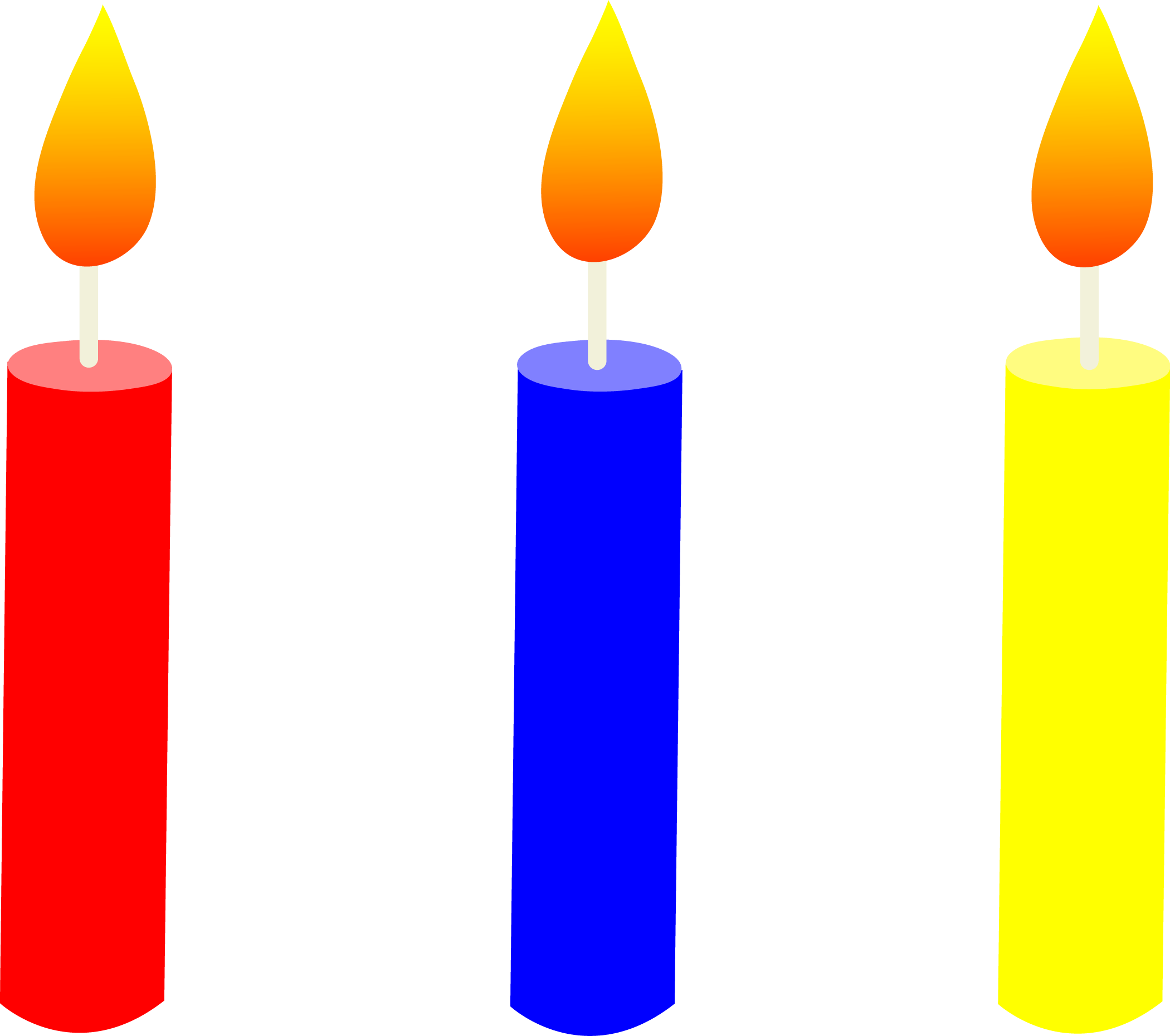 Birthday Candles Clipart - Cliparts.co