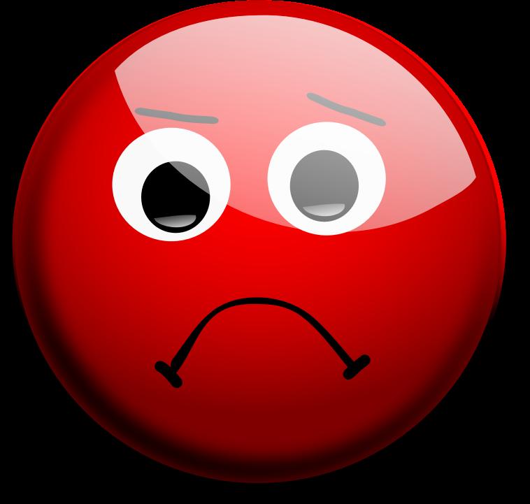 Red sad face