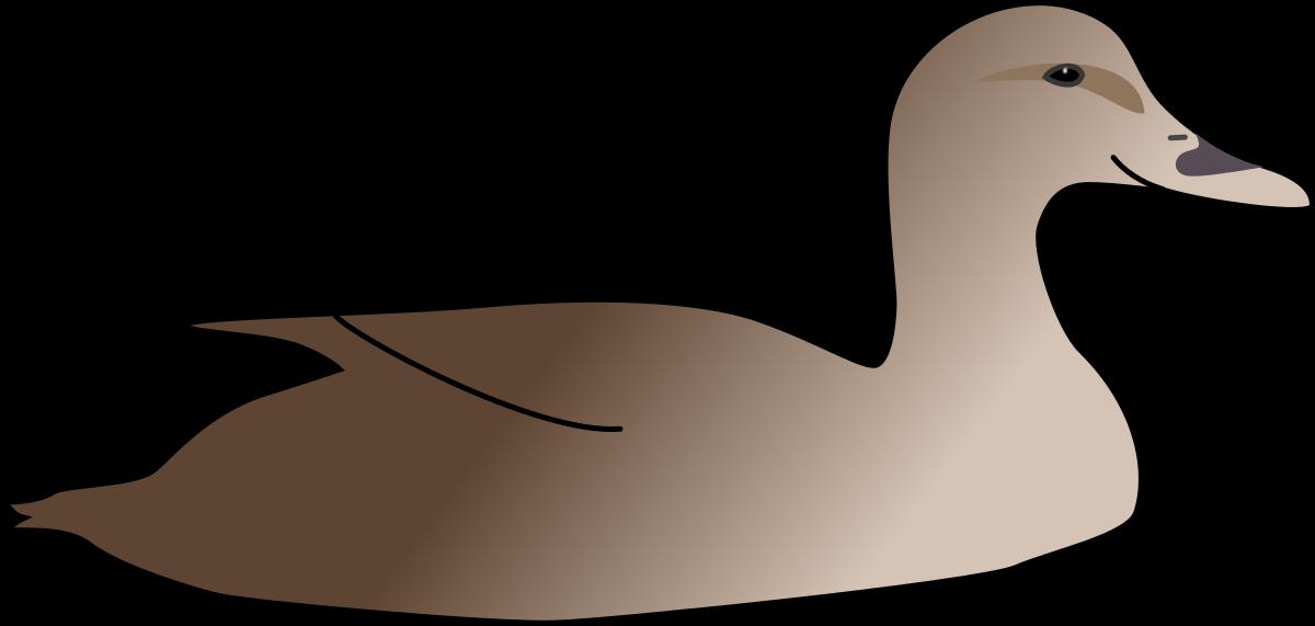 Утка рисованный