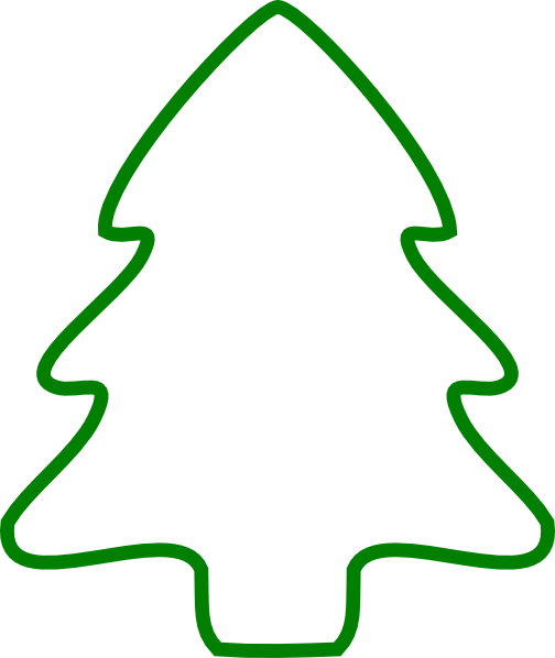 Green Christmas Tree Outline clip art - vector clip art online ...