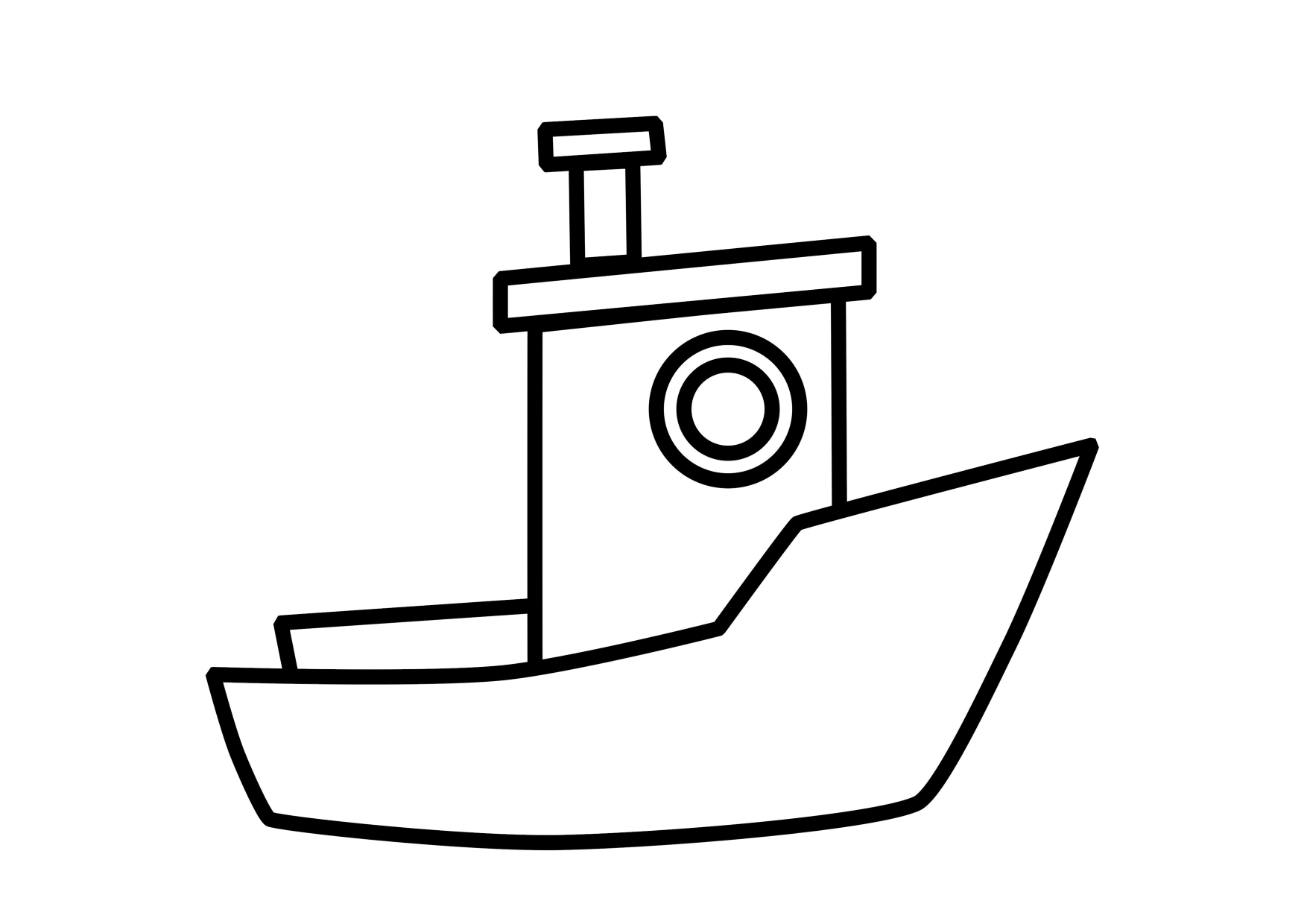 Motor Boat Coloring Pages - Coloring Home | 1240x1754